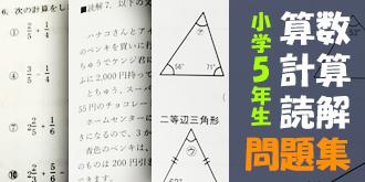 陰山英男監修小学5年生向け計算読解算数問題集販売開始!